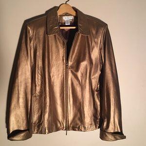 🦋LEATHER Bronze Jacket